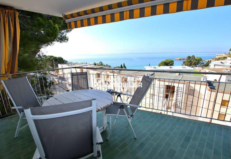 appartement almadrava roses, grande terrasse vue mer, secteur prisé, ref.3790