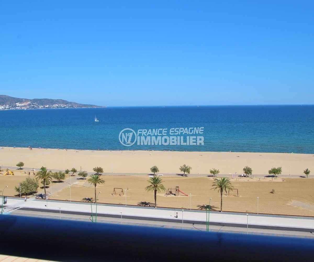 immobilier costa brava: appartement ref.3772, vue mer panoramique depuis le terrasse véranda