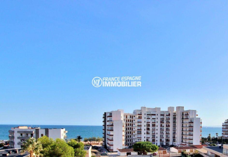 vente appartement rosas, ref.3779, belle vue mer, plage à 200 m