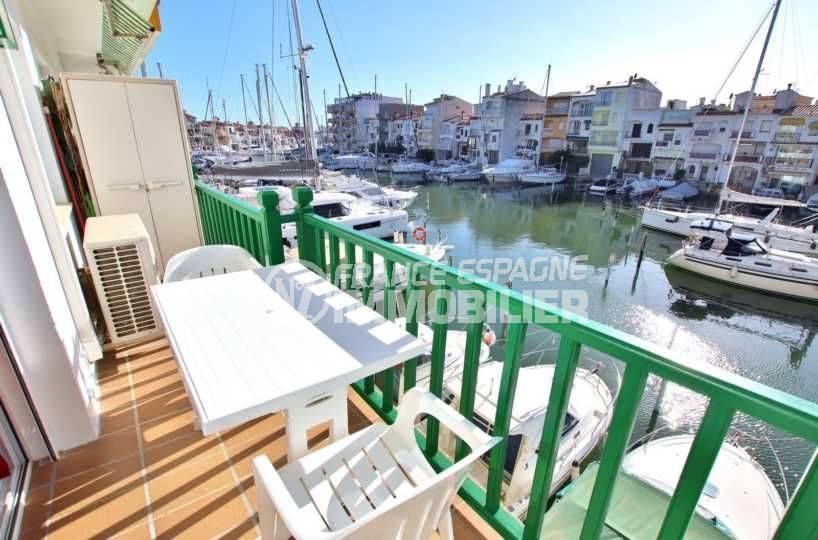 immobilier costa brava: appartement ref.3784, terrasse vue marina