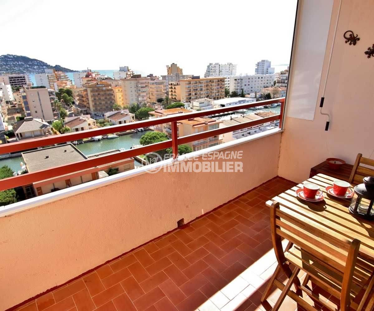 immobilier costa brava: studio ref.3787, terrasse avec belle vue mer