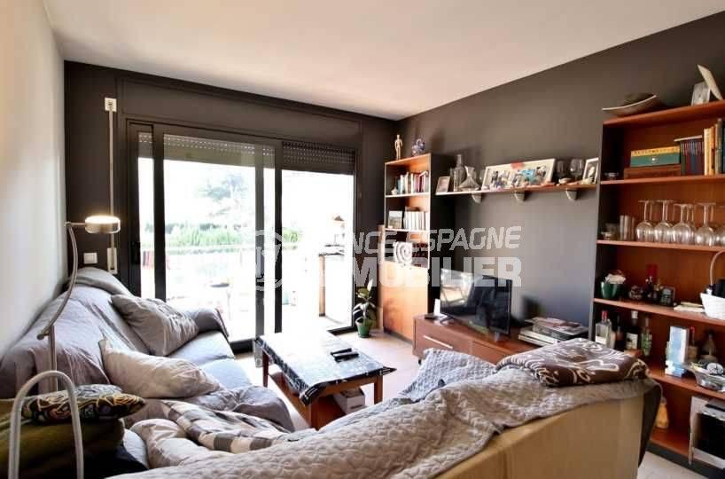 immo costa brava: appartement ref.3797, séjour avec accès terrasse