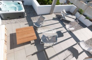 immobilier costa brava: appartement ref.3805, vue plongeante sur le solarium