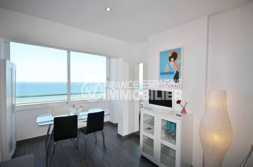 immobilier ampuriabrava: studio ref.3772, belle vue mer, proche plage