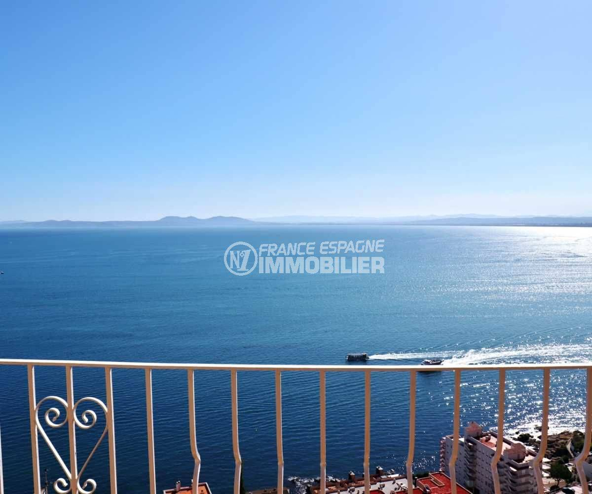 immobilier costa brava: appartement ref.3774, splendide vue mer