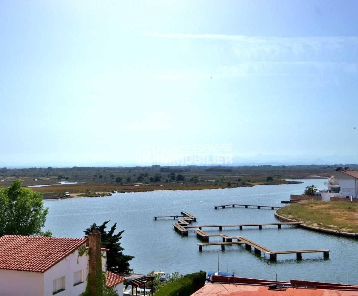 immo roses: appartement ref.3804, vue sur la marina depuis la terrasse