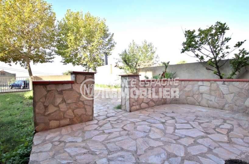 achat immobilier costa brava: villa ref.3801, cour intérieure et terrasse
