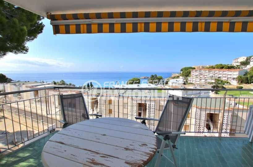 appartement costa brava, ref.3790, belle terrasse vue mer