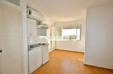 immobilier empuria brava: studio ref.3788, coin cuisine et coin repas