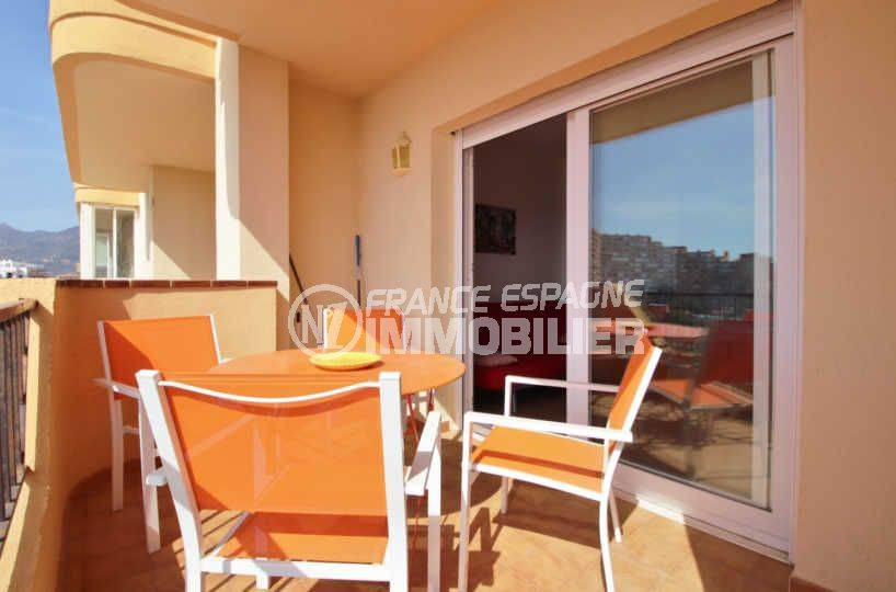 appartements a vendre a rosas, ref.3804, terrasse de 8 m² avec accès au salon