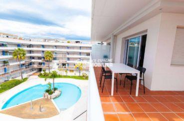 appartement a vendre rosas, ref.3805, terrasse vue piscine