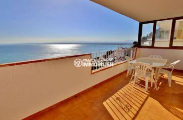 appartement a vendre rosas, ref.3774, terrasse 19 m² avec barbecue