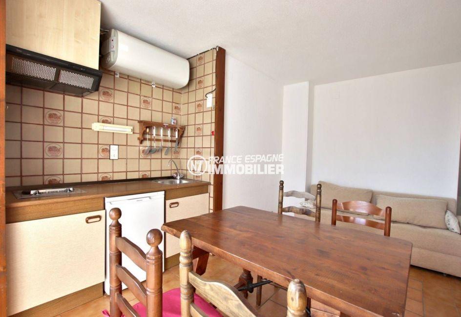 appartements a vendre a rosas, ref.3779, espace cuisine, salle à manger et salon