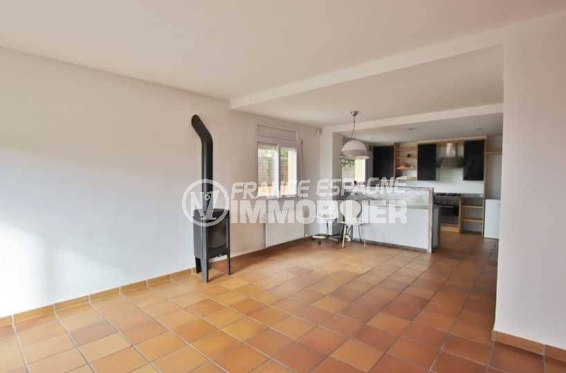 la costa brava: villa ref.3795, cuisine ouverte sur le salon / séjour