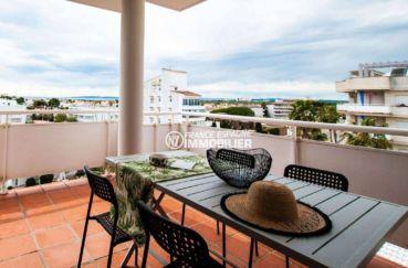 appartement a vendre costa brava, ref.3805, salle à manger d'été, vue mer
