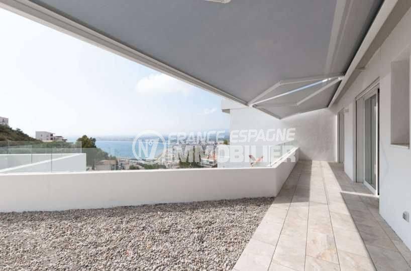 immobilier costa brava: villa ref.3803, terrasse vue mer à l'étage pour les chambres