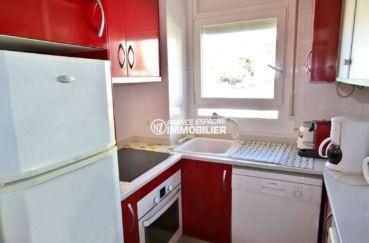 appartement a vendre rosas, ref.3785, cuisine américaine aménagée