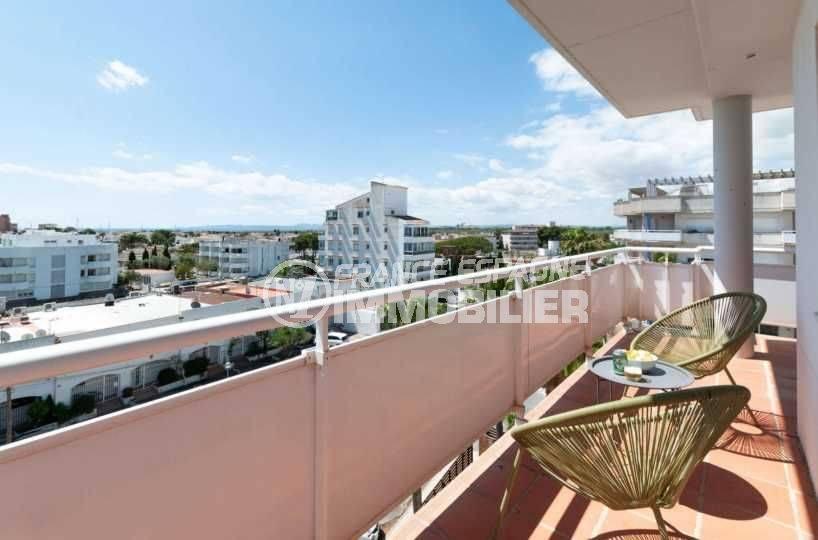 immo roses: appartement ref.3805, troisieme terrasse 15 m²