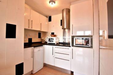 immobilier roses espagne: appartement ref.3804, cuisine aménagée avec des rangements