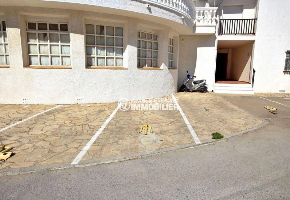 immo espagne costa brava: appartement ref.3783, parking privé exterieur