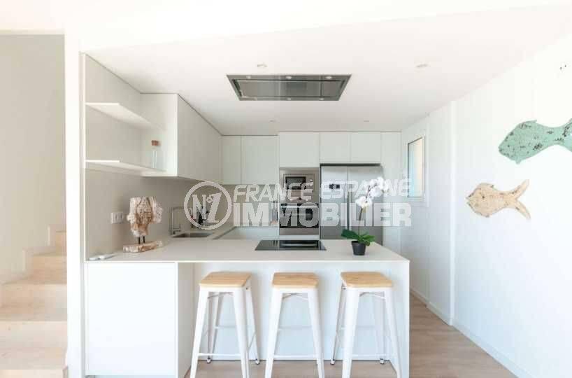 ventes immobilieres rosas espagne: villa ref.3803, cuisine américaine équipée