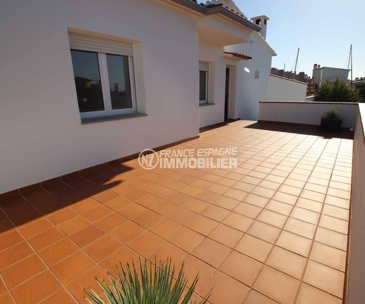 maison a vendre espagne rosas, ref.3796, grande terrasse solarium de l'étage indépendant