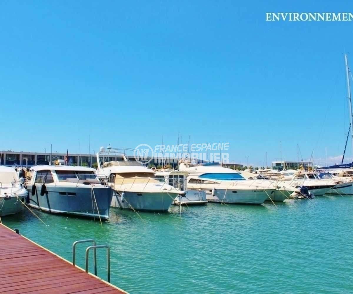 costabrava immo: villa ref.3795, vue sur le port de plaisance aux environs