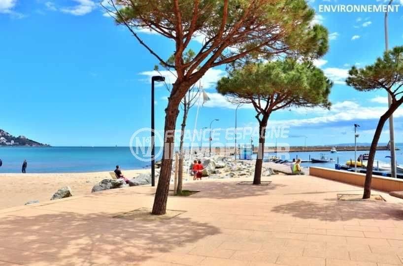 vente immobilier rosas espagne: appartement ref.3776, aperçu de la plage aux environs