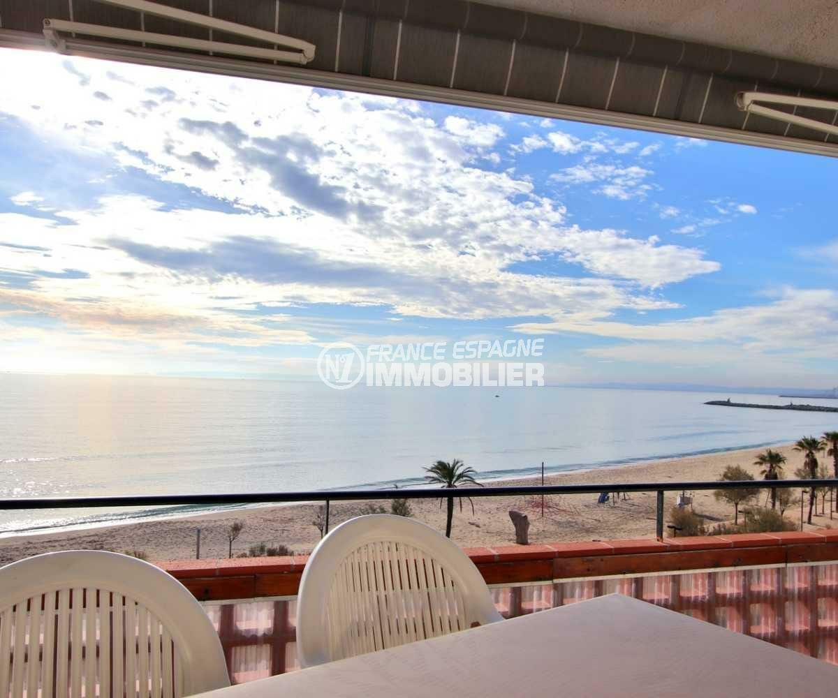 appartement santa margarida, terrasse vue mer