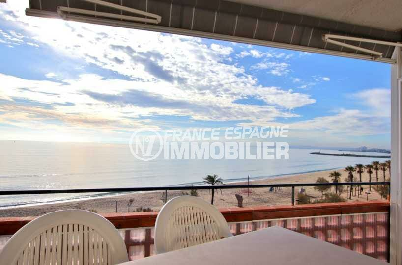 appartement santa margarida, ref.3839, terrasse vue mer, parking, plage et commerces à 50 m