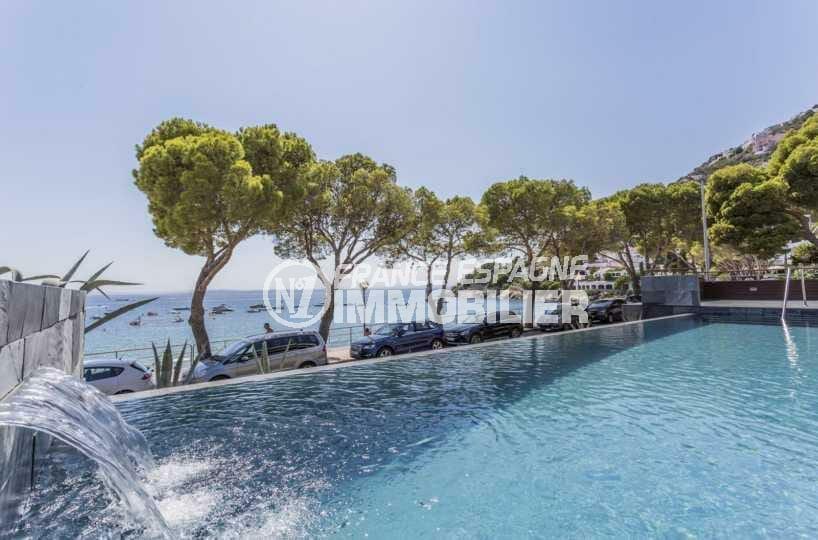 canyelles petites: appartement standing ref.3826, plage à 30 m, piscine débordante