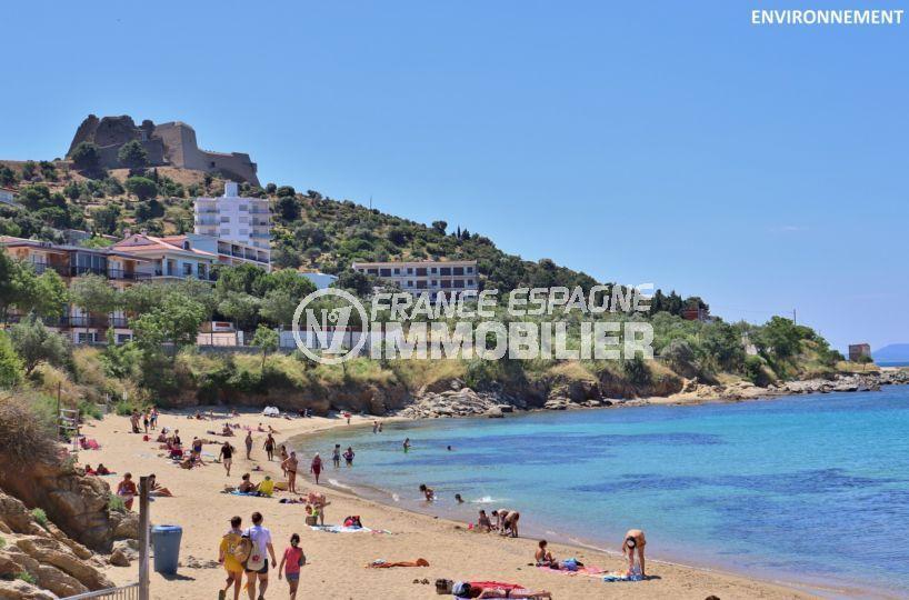 appartement a vendre rosas, ref.3820, grande terrasse avec vue mer, plage et commerces à 50 m