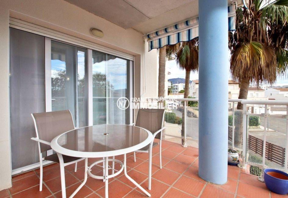 vente appartement rosas, ref.3813, terrasse, piscine, parking, possibilté amarre