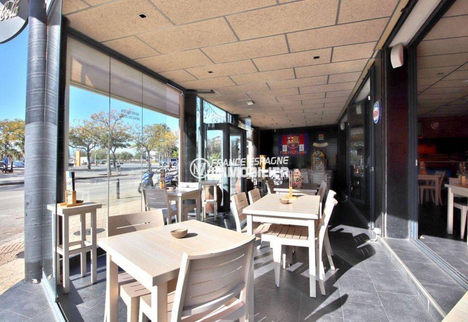 immobilier costa brava: commerce ref.3816, aperçu de la terrasse couverte