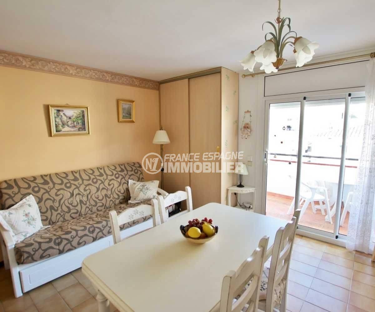 appartement a vendre rosas, ref.3810, séjour et  salle à manger
