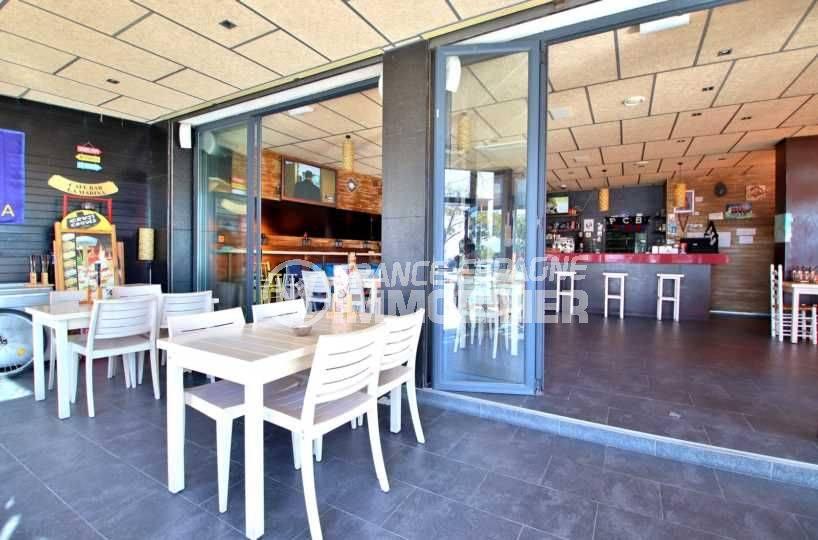 achat immobilier costa brava: commerce ref.3816, aperçu terrasse + salle, 160 m²