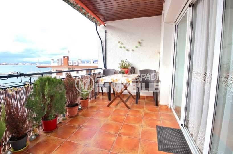 Belle terrasse vue mer / port Roses