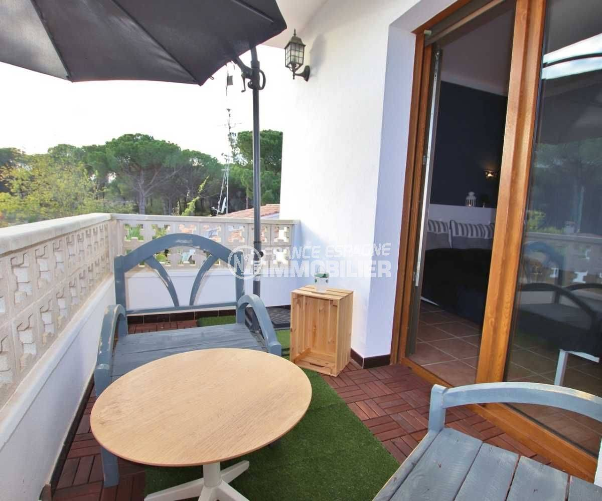 la costa brava: villa ref.3818, balcon privé avec accès à la chambre