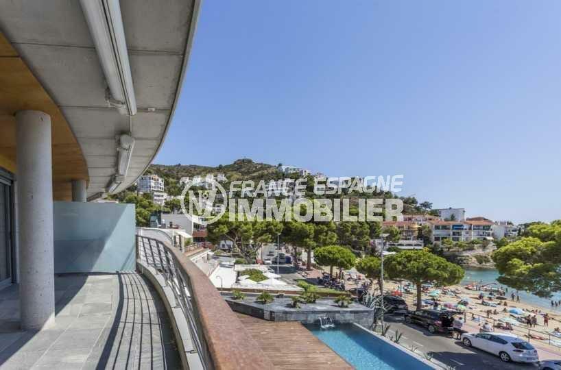 canyelles petites rosas: appartement ref.3826, plage et commerces à 30 m