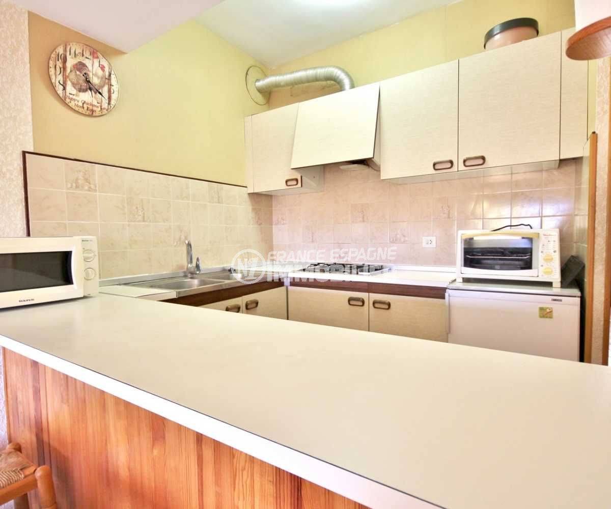 immobilier empuriabrava: appartement ref.3809, cuisine américaine aménagée
