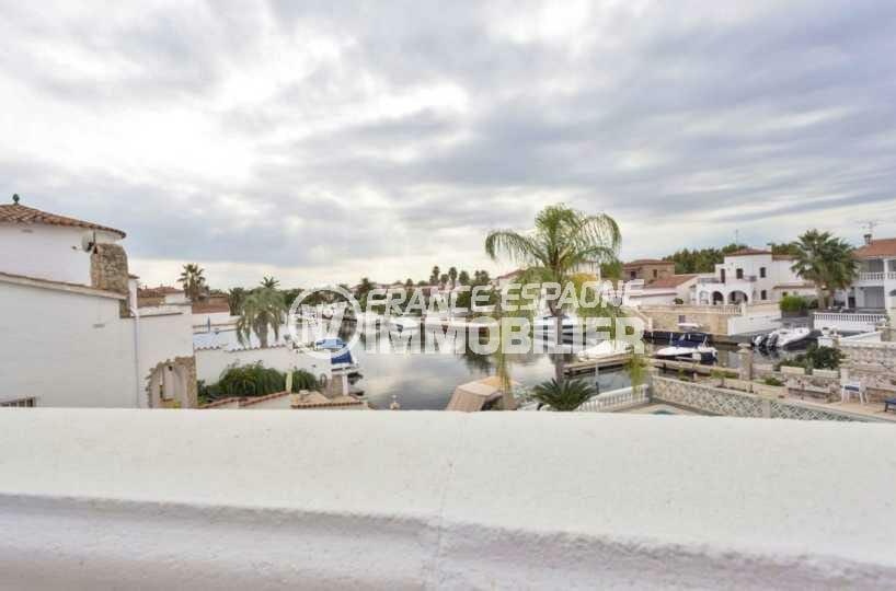 maison a vendre empuriabrava, ref.3827, aperçu du canal depuis la terrasse