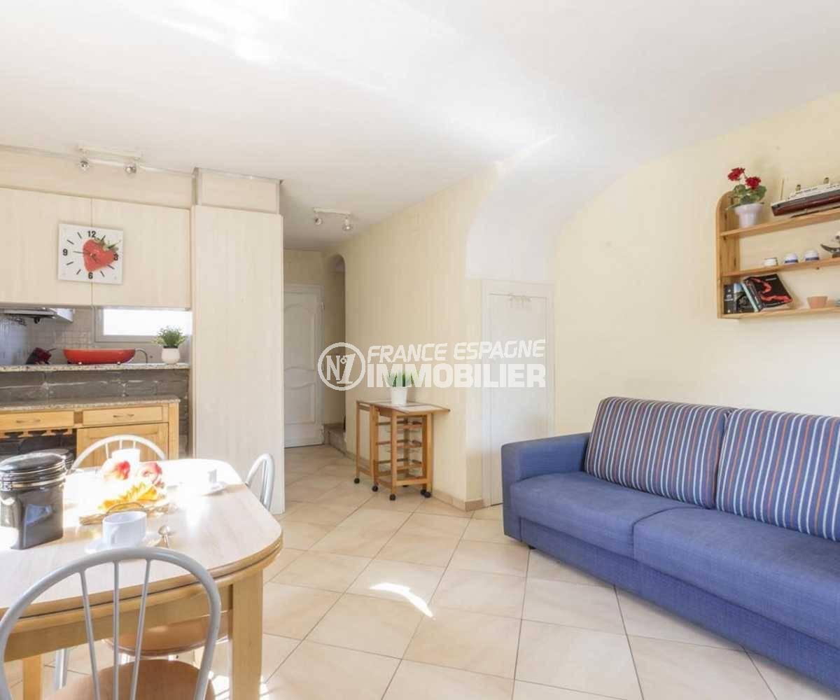 maison a vendre empuria brava, ref.3834, salon / séjour avec cuisine semi ouverte