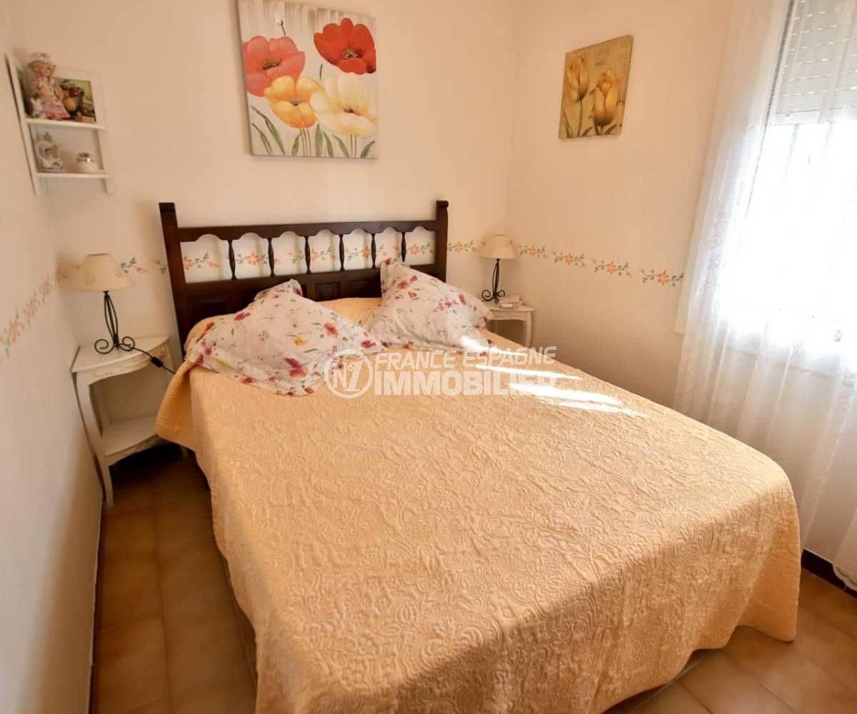 immobilier roses espagne: appartement ref.3810, chambre avec lit double