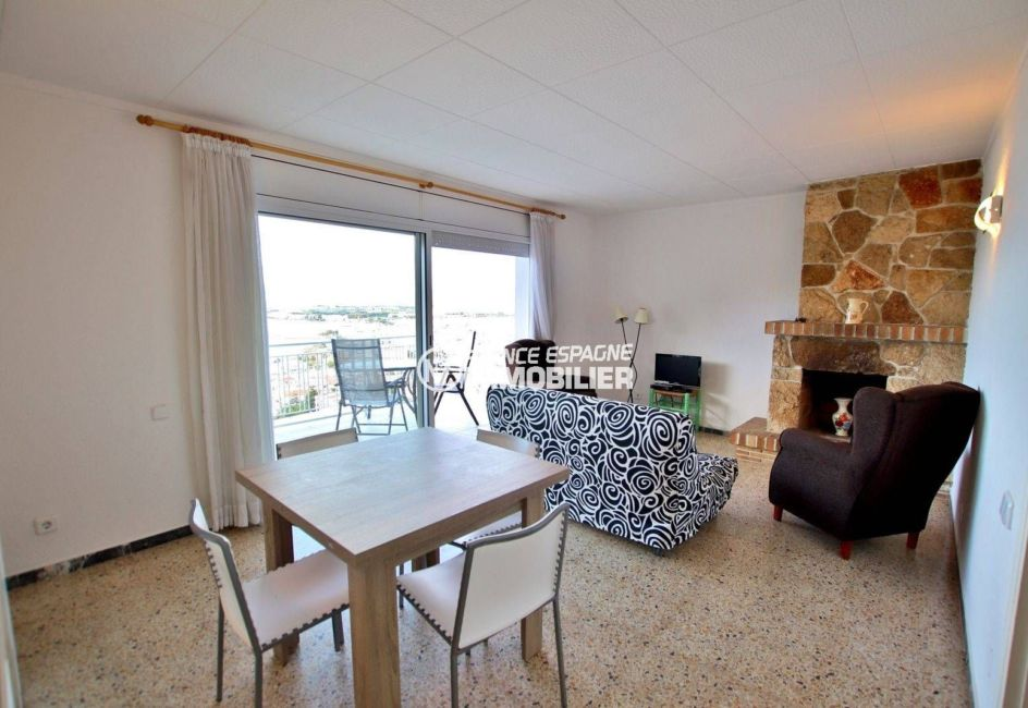 achat appartement espagne costa brava, ref.3824, salon / séjour avec accès à la terrasse