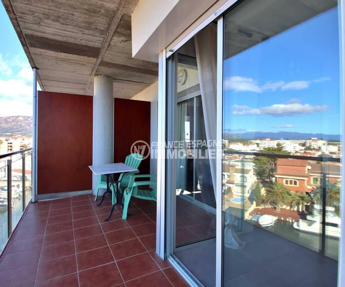 appartement a vendre a rosas, ref.3812, accès à la terrasse vers le séjour