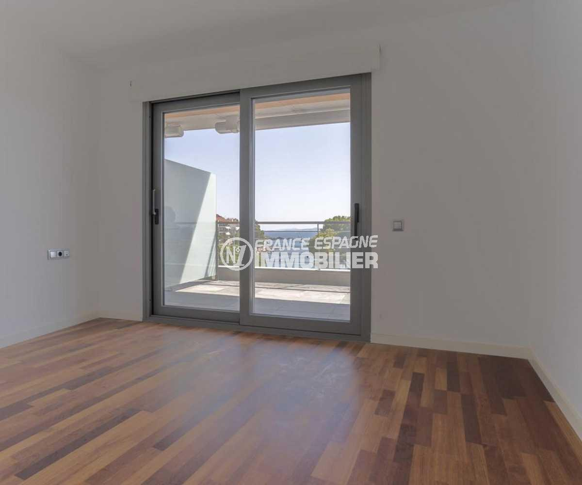 vente appartement rosas, ref.3826, chambre parentale avec accès terrasse