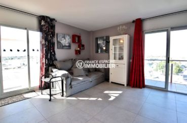 appartement rosas vente, ref.3812, séjour avec accès à la terrasse