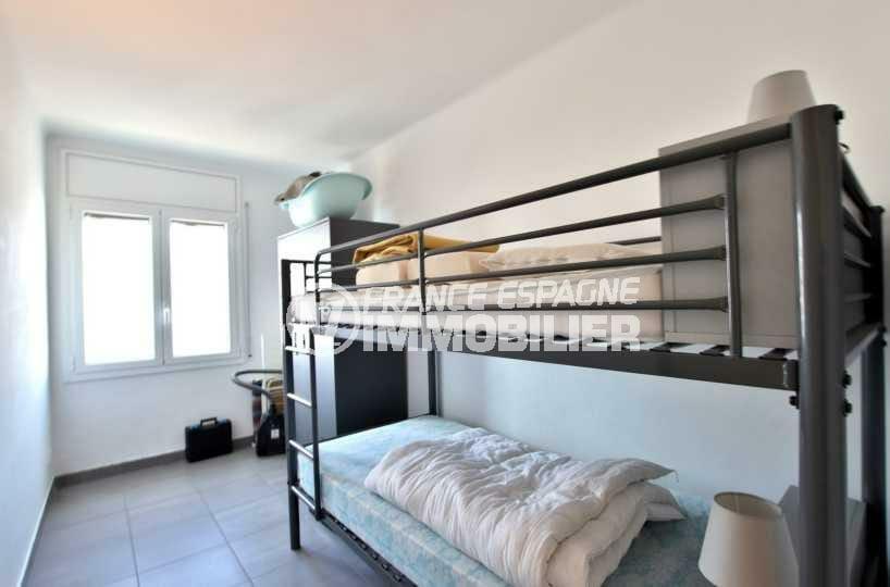 appartement à vendre à rosas espagne, ref.3839, troisième chambre avec lits superposés