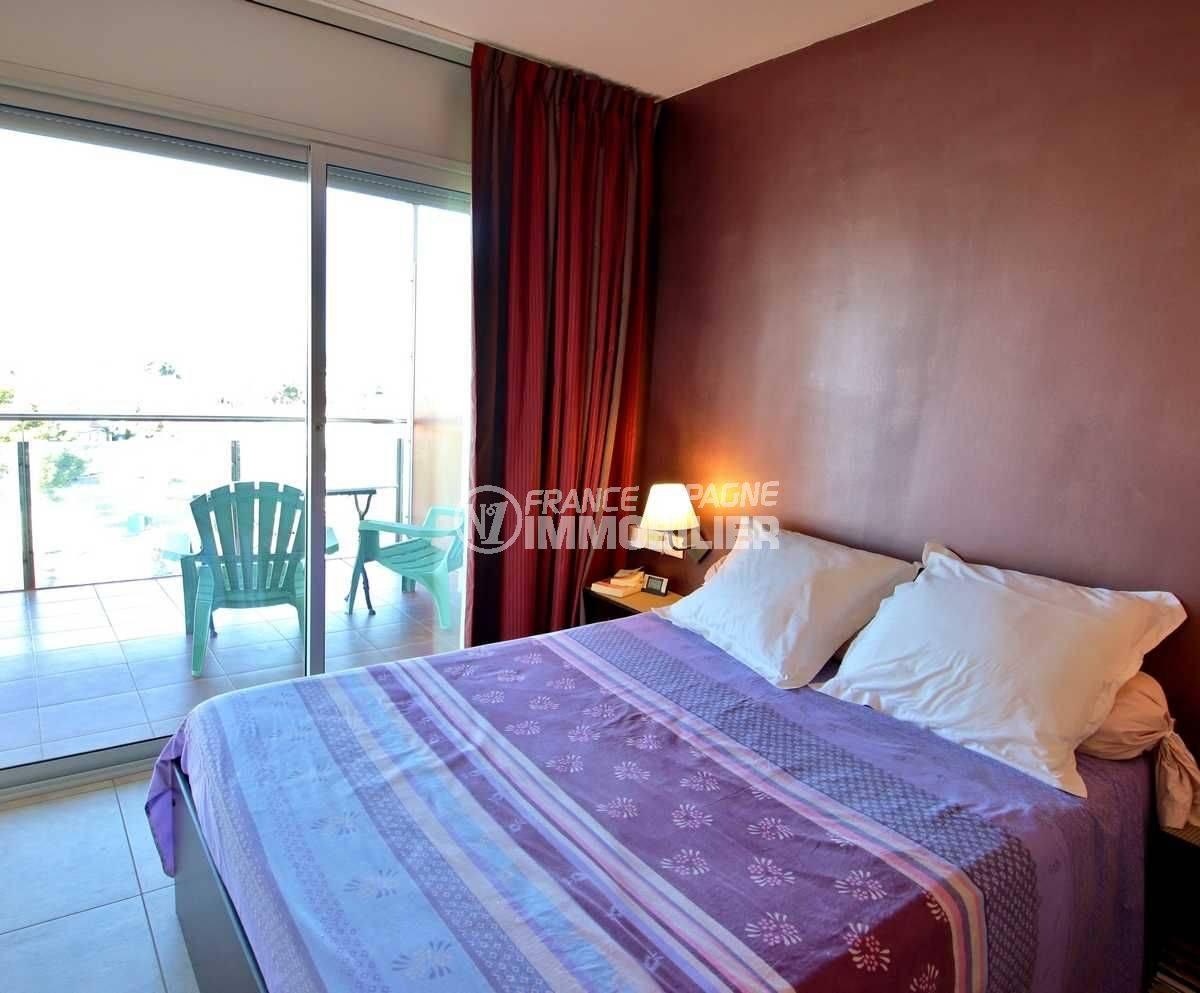 vente immobilier rosas espagne: appartement ref.3812,  chambre 1 lit double, accès terrasse