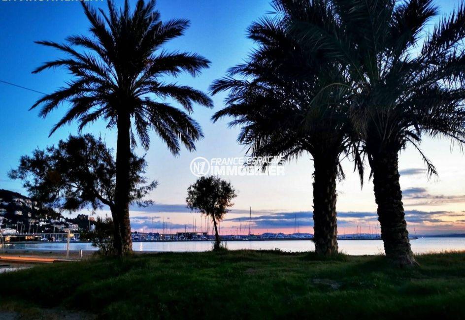 immo costa brava: ref.3824, vue sublime à la tombée de la nuit sur la plage environnante